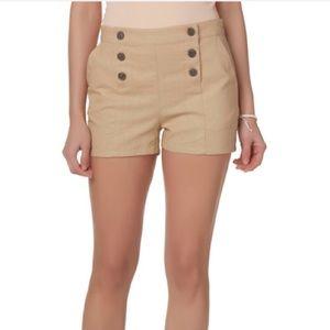Nomad Sailor High Rise Linen Shorts XXL